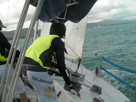 SIA Yacht training with Students